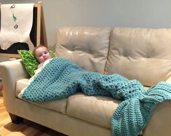 SALE - Mermaid Blanket for Child Ready to Ship Free in US