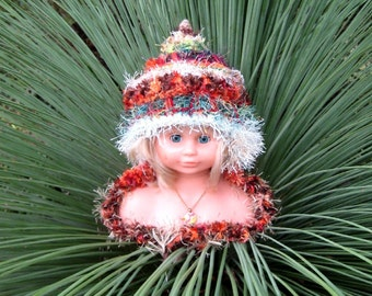 CUSTOM MADE Baby Hat Earthy Autumn Fall Colours with Earflaps