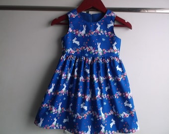 Bunnies and flowers dress