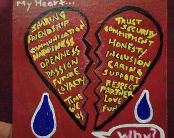 Broken Heart Promises Original Painting