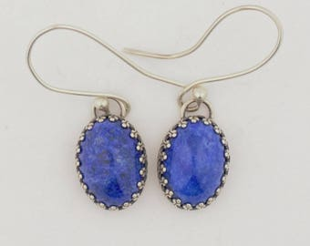 Emory Silver Studio *Lapis Sterling Silver .925 Earrings Handcrafted*