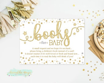 Twinkle Star Baby Shower Book Request Cards, Printable Book Request, Printable Shower Card, Twinkle Twinkle Little Star, Baby Library Card