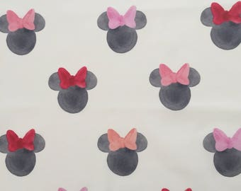 custom baby lovey/blanket ~ watercolor minnie ears ~ chic couture ~ baby accessories ~ baby lovey/blanket from lillybelle designs