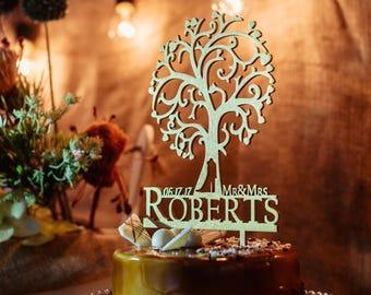 Cake Topper, Wedding Cake Topper, Wedding Topper, Gold, Rustic Cake Topper, Cake Topper Mr Mrs, Last Name Cake Topper Wood Wedding Topper