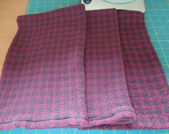 """February 2017 Club Handwoven Towels: """"Wine and Chocolate"""""""