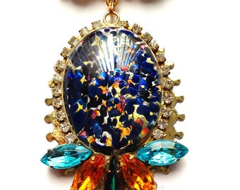 Confetti Glass Pendant Necklace