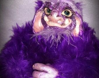 OOAK purple lavender monster. He is a lavender filled monster.