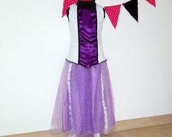 Costume Princess purple size 8-10 years