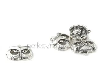 Silver OWL head pendant