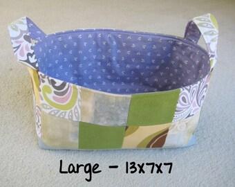 Rectangular Fabric Basket Organizer - Large