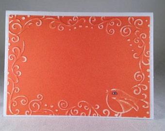 Set of 5 Scroll Frame with Bird CLASSIC All Occasion Cards