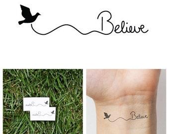 Believe - temporary tattoo (Set of 2)
