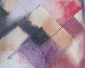 Water Color abstract tiles
