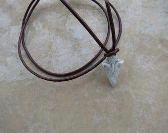 Little Arrowhead Essential Oil Pendant, Little Gray Arrowhead Necklace, EO Diffuser Pendant, Aromatherapy Jewelry