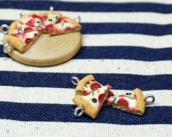 Mini Pizza Charm Handmade