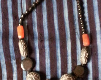 African Carnelian Beads Antique Glass Beads Mali Beads Clay Beads Necklace