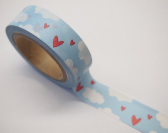Cloud and Heart Washi Tape (15mm X 10M)