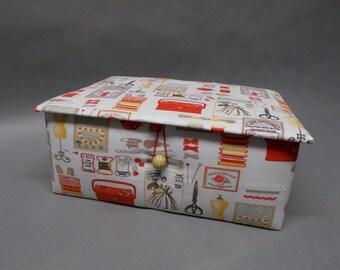 Box has sewing book box