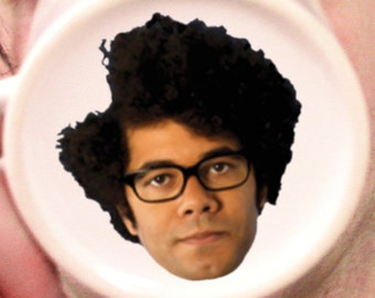 The IT Crowd Mug/Cup Maurice Moss Richard Ayoade Face Geek Nerd Microwave and DISHWASHER SAFE