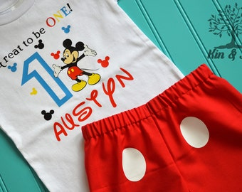 Mickey Mouse first birthday outfit