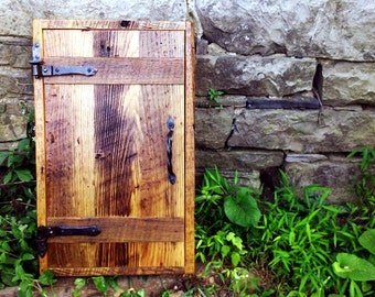 Rustic Cottage Chic Medicine Cabinet  from Reclaimed Wood