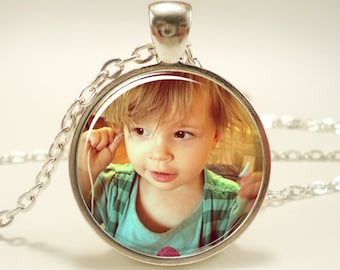 Personalized Photo Jewelry, Gift For Mom, Mother's Day Necklace, Anniversary Keepsake For Her
