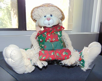Vintage Christmas House Of Lloyds Bunny Doll