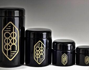 Medium Cocoon Ultra Violet Glass Herb Jar - Airtight. Smell-Proof. Discreet. (1/2 Ounce Capacity)