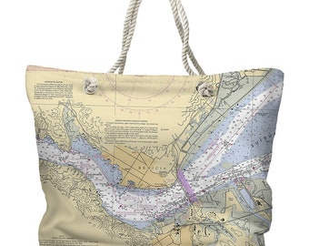 CA: Benicia, CA Nautical Chart Tote Bag, Map Tote Bag, Destination Tote Bag, Nautical Tote Bag
