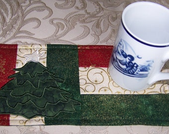 CHRISTMAS - TREE - Applique Quilted Mug Rug PDF E-Pattern