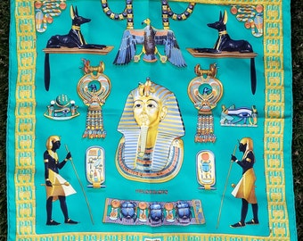 Vintage Unisex Hermes King Tutankhamun (King Tut) Scarf