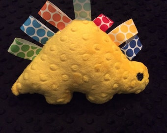 Yellow Minky Dinosaur Toy, CLEARANCE SALE