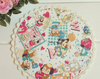 made to order a sweet animals doily