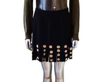 Moschino Cheap and Chic Vintage Wool Skirt