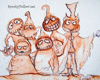 Halloween Sepia Print  by Carmen Ellis