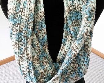 10.00 OFF Infinity Cowl Scarf - Chunky Scarf, Scarves for Women, Unisex Scarf, Crochet Neckarmer Scarf, Circle Scarf, Cowl Scarf, Handmade S