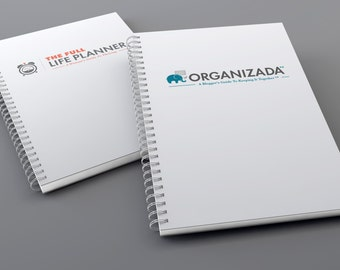 Organizada & Full Life Planners Bundle | Monthly Goals | Social Media Planning | Meal Planning | Budget | Income Tracking | Undated, 6x9
