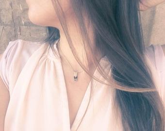 Dainty chevron necklace - Chevron necklace - Dainty everyday jewelry