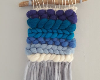 Handmade Blue Ombre Weave