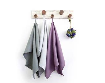 Organic dish towels set of 3 - Massage towels for SPA - Hostess gift