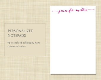 Personalized Notepad - Personalized Note Pad - Name Notepad - Name Note Pad - MODERN CALLIGRAPHY