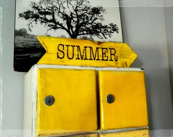"""shabby chic wood sign  """" SUMMER"""""""