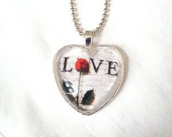 Love Heart Pendant. Lovingly Handmade in Brooklyn by Wishing Well Studio.