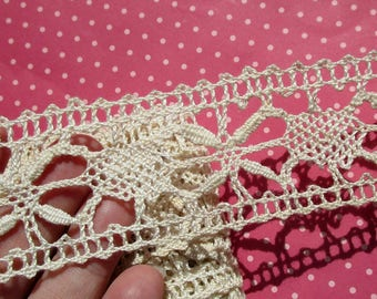 Antique Lace Vintage Lace Trim Cotton Bobbin Lace Cluny Lace