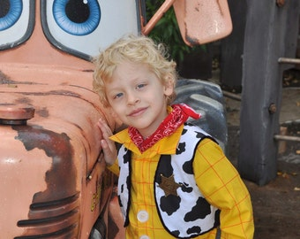 Woody Cowboy Costume Shirt, Vest, Toy Story