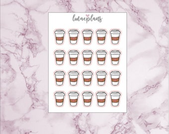 Coffee To Go Cup - Functional Planner Stickers Erin Condren Life Planner Mambi Happy Planner Travelers Notebook Personal Planner