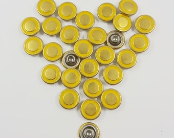 Gold Yellow Metal Compression Rivets, Rapid Studs, Accessories Leather crafts,Purse & Bag Making Supplies 30 PCS