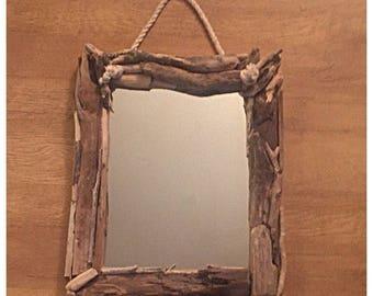Beautiful Bespoke Driftwood Rope Mirror.
