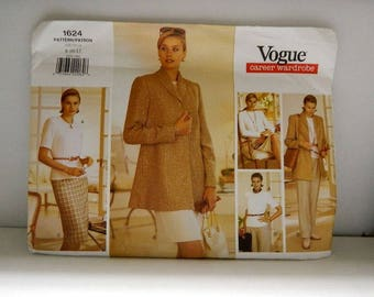 Vogue Pattern 1624 - Vintage Career Wardrobe Pattern - Uncut
