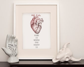 Home is where the heart is - Anatomical Heart - Art Print - Various